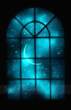 Glow in the Dark Painting  Romantic Starlight by StellaMurals