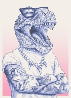 Dino-swag, pencil.