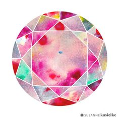 abstract geometric ink gradient nature Susanne Kasielke surtex 2015 surface pattern design sacred geometry watercolor