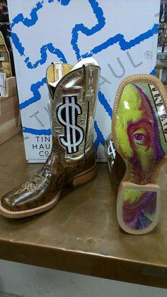 tin haul boots flaming dice