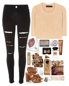"""✌BASIC BEIGE✌"" by niamtz on Polyvore featuring River Island, Lipsy, Calvin Klein Collection, Lime Crime, Accessorize, NARS Cosmetics, The Body Shop, Sisley Paris, Giorgio Armani and Lanvin"