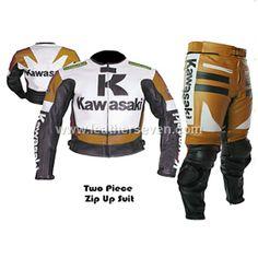 Honda New Design Yellow Leather Motorcycle Biker Racing Suit