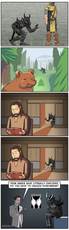 This is literally me when I play Skyrim - I sneak everywhere. Funny to see that someone created this, as I joked about this often to myself!
