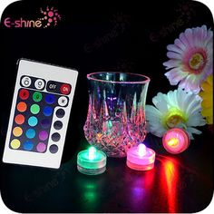 LED Remote Controlled RGB Submersible Light For Wedding Decoration