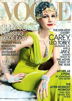 Carey Mulligan - I know her hair has grown out but that head wrap would be such a cute accessory for a pixie