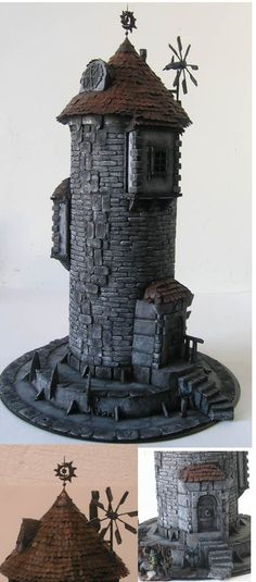 The Internet's largest gallery of painted miniatures, with a large repository of how-to articles on miniature painting Casa Estilo Tudor, Hirst Arts, Dice Tower, Tabletop, Fantasy Model, Medieval Houses, 3d Modelle, Wargaming Terrain, Halloween Village