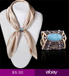 Stop Scarf 3 Rings Silver High Gloss Buckle Attack Scarf Scarf klips