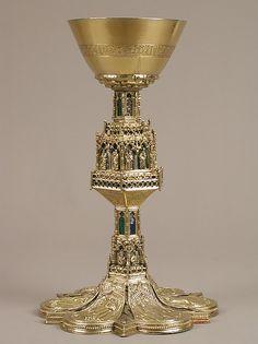 Chalice Date: 15th century Culture: Spanish Medium: Enamel, silver gilt