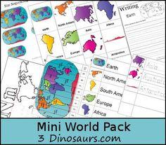FREE Printable Mini World Pack | Homeschool Giveaways