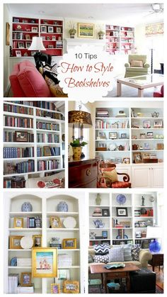 10 Tips | How To Style Bookshelves