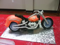 Customer Submitted Motorcycle Cake Creation...