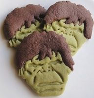 I will never make these, but Hulk Cookies are awesome and the green tea dough is appealing
