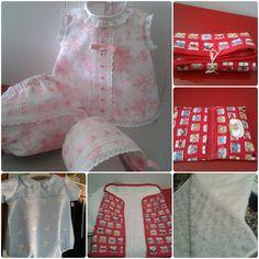 Marisa Álvarez nos envía sus bonitas creaciones con nuestros tejidos: piqués de nido de abeja, de canutillo, algodones, pelo de caracol, etc. ¡Gracias por compartir!