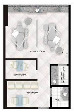 CAD Computação Gráfica - Soluções Clinic Interior Design, Clinic Design, Healthcare Design, Dentist Clinic, Pediatric Dentist, Home Beauty Salon, Dental Aesthetics, Cabinet Medical, Dental Office Decor