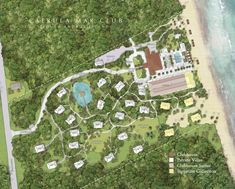 """""""Caerula Mar is a haven for friends, family and fellow travellers, founded upon sustainable beliefs and comprised of ethereal experiences. Forest Resort, Desert Resort, Bahamas Resorts, Hotels And Resorts, Landscape Concept, Landscape Architecture, Architecture Design, Bubble Diagram Architecture, Resort Plan"""