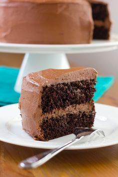 This double layer chocolate cake is moist, rich and perfect for just about any occasion!