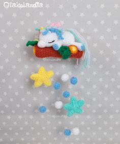 Había una vez… un unicornio blanco, un elefantito y un búho dormilón… Christmas Ornaments, Holiday Decor, Home Decor, Amor, New Dads, Baby Unicorn, Crib Mobiles, Baby Blue, Blue Nails