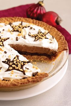 Easy Peanut Butter Cookie Fudge Pie. Enter the Create Delicious Holidays Pin & Win Sweepstakes! Start by pinning your favorite dessert recipe and you could win a deluxe cookware and bakeware set or other cash prizes! Visit www.kraftrecipes.com/deliciousholidays for complete details
