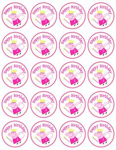 Etiquetas descargar Peppa Pig Favor etiqueta/círculo instantánea