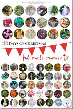 20 Days of Kid-Made Ornaments: fifty seven creations | @mamamissblog #kidmadeornaments #kidmadechristmas #kidcrafts