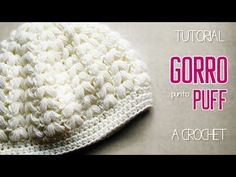 玉編みの帽子 ニットキャスケットの編み方 / How To Crochet * puff stitch newsboy hat (casquette) * Crochet Baby Poncho, Easy Crochet Hat, Bonnet Crochet, Baby Girl Crochet, Crochet Woman, Crochet Beanie, Baby Knitting, Knitted Hats, Puff Stitch Crochet