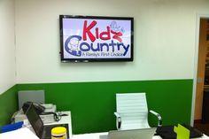 "42"" Panasonic HDTV In-Store Digital Signage Installation at Kidz Country"