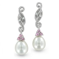 Clip On Pearl Drop Earrings