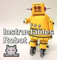 Strawbots: Instructables Robot with thin sheets of craft foam