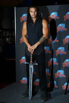 """thirat-atthiraride: """"    Jason Momoa Brings Conan the Barbarian's Sword to NY Comic Con Huffington Post 10/14/2011    Conan The Barbarian will be among the many personalities attending this weekend's..."""