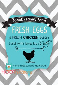 Chevron Custom Egg Carton Labels to print at by HOOTinvitations egg carton design
