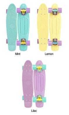 Pastel Penny Boards... I want one sooooooooo bad!! I want the lemon one