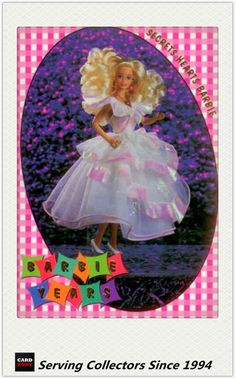 1997 Tempo World of Barbie Trading Cards Barbie Years BY2 Secret Hearts Barbie | eBay