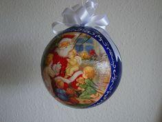 (Made by Susanne Elfrom Nguyen) Decoupage ornament.Julegave til Alexander.