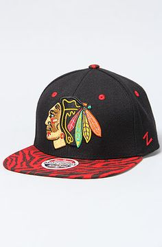 19951e856b3 The Tiger Print Chicago Blackhawks Hat by Z Hats Urban Swag