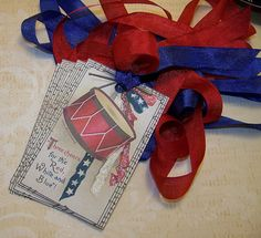 4th of July Tags Americana Tags Patriotic Tags Red by TheNestinSLT