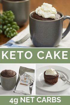 Low carb keto chocolate mug cake. Only net carbs! Ready in 2 minutes! Moist Chocolate Mug Cake, Chocolate Mug Cakes, Sugar Free Chocolate, Protien Mug Cake, Keto Mug Cake, Pistachio Cake, Bowl Cake, Pecan Nuts, Rhubarb Recipes