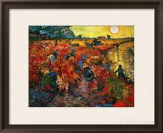 The Red Vineyard at Arles, c.1888 Framed Giclee Print by Vincent van Gogh at AllPosters.com