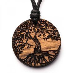 Baum des Lebens Weide - 3in1_diy_schmuck Holzschmuck aus Naturholz / Anhänger Christmas Ornaments, Holiday Decor, Celtic Tree, Diy Jewelry Necklace, Tree Of Life, Watches, Handmade, Wristlets, Christmas Jewelry
