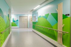 Donna Wilson, Painted Landscapes. The Royal London Children's Hospital, Whitechapel, London UK
