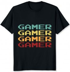 Vintage and Retro Style. I love Gaming Shirt, Video Gamers online. Online Video Game Shirts are trendy and come in great colors. Gamer Shirt, T Shirt, Online Video Games, Retro Gamer, Boy Birthday Parties, Retro Fashion, 1980s, Retro Vintage, Nostalgia