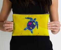 Paper Craft Sea Turtle - Studio Pouch