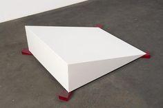 Johann König, Berlin: Johannes Wohnseifer Ramped Ramp - 2006  aluminium powder coated, Plexiglas 30 x 80 x 100 cm / 11 3/4 x 31 1/2 x 39 1/4 in