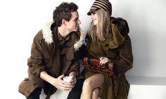 Eddie Redmayne and Cara Delevingne - Burberry