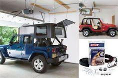 Harken Hard Top Hoist Kit for Jeep Wrangler ('87-'16 YJ, TJ, JK)