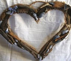 Another Stunning hanging driftwood heart!