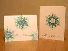 Winter Stamp Camp Sample using Festive Flurries set and inks from Winter Wonder DSP