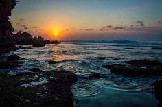Sunset at Padang Padang Beach - Bali, Indonesia