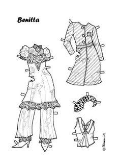 Karen`s Paper Dolls: Benitta 1-8 Paper Doll to Colour. Benitta 1-8…