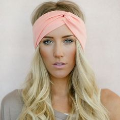 """Three bird nest perfect turban headband The three bird nest perfect turban headband. Available in light pink, light blue, white, or beige. (Please specify color choice). Soft jersey stretchy material with a slight sparkle. Super comfy and easy to wear. Great for messy hair or working out. Brand new with tags. Great gift! Retail $24. 2.5"""" wide all around Accessories Hats"""