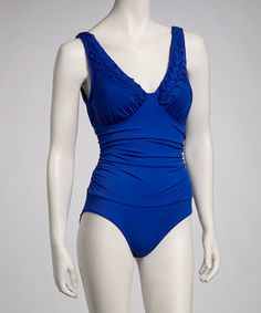Take a look at this Cobalt V-Neck One-Piece by Jantzen on #zulily today! $39.99, regular 96.00.  Sale ends in 1 days, 16 hours; or, in other words on Saturday, June  8th in the afternoon. So if you're interested, get on it! :)